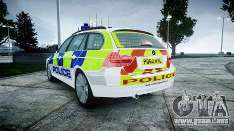 BMW 3 Series Touring E91 [ELS] para GTA 4 Vista posterior izquierda