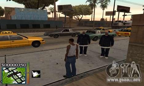 С-HUD RastaMan para GTA San Andreas segunda pantalla