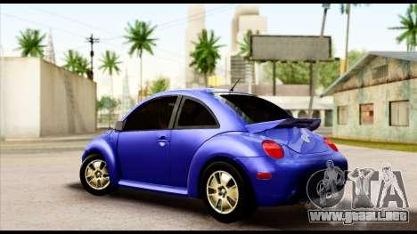 Volkswagen New Beetle para GTA San Andreas left