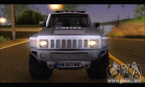 Hummer H3 Police para la visión correcta GTA San Andreas