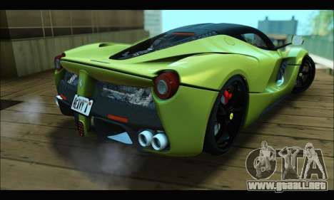 Ferrari LaFerrari 2014 para visión interna GTA San Andreas