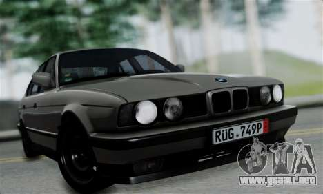 BMW 525 E34 Rims para GTA San Andreas vista posterior izquierda