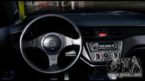 Mitsubishi Lancer Evo 9 para la visión correcta GTA San Andreas