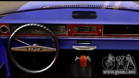GAZ 24 Volga Lowrider La Jinetes para GTA San Andreas vista posterior izquierda