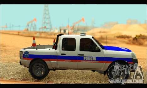 Ford Ranger 2011 Policia Bonaerense para GTA San Andreas vista posterior izquierda