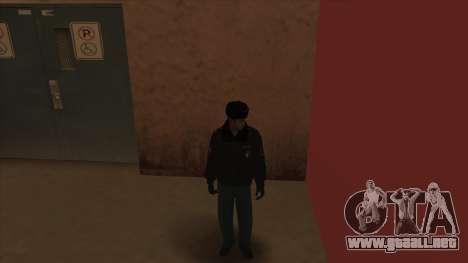 La policía rusa de invierno de la forma para GTA San Andreas octavo de pantalla