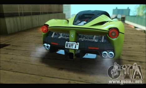 Ferrari LaFerrari 2014 para GTA San Andreas vista hacia atrás