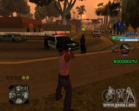 C-HUD Rifa para GTA San Andreas segunda pantalla