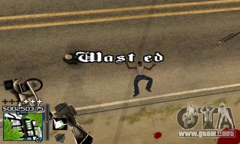 С-HUD RastaMan para GTA San Andreas sucesivamente de pantalla