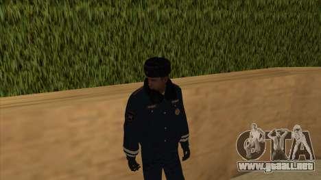 La policía rusa de invierno de la forma para GTA San Andreas