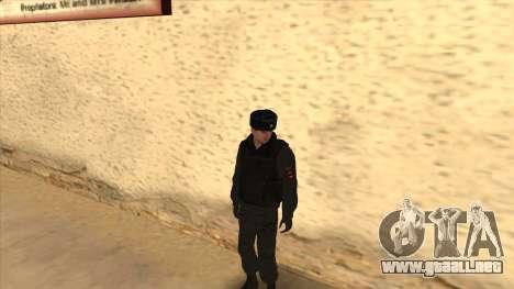 La policía rusa de invierno de la forma para GTA San Andreas novena de pantalla