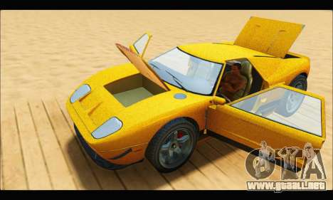 Vapid Bullet Gt (GTA V TBoGT) para visión interna GTA San Andreas