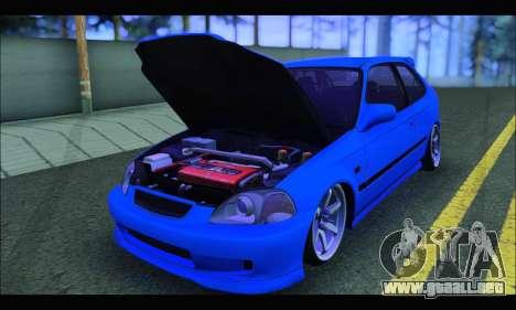 Honda Civic HB (BLG) para GTA San Andreas vista hacia atrás