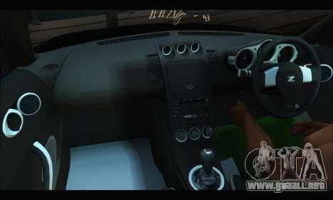 Nissan 350Z Rock para vista lateral GTA San Andreas