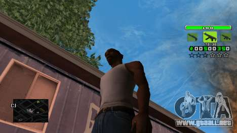 Light Green C-HUD para GTA San Andreas
