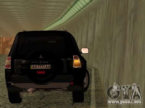 Mitsubishi Pajero para GTA San Andreas vista hacia atrás