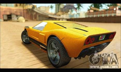 Vapid Bullet Gt (GTA V TBoGT) para GTA San Andreas vista hacia atrás