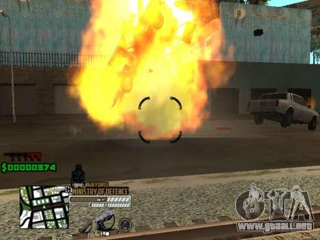 C-HUD Air Force para GTA San Andreas tercera pantalla