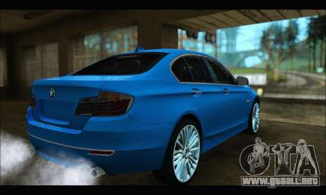 BMW 5 series F10 2014 para GTA San Andreas left