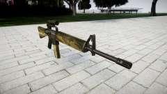 El rifle M16A2 [óptica] flora