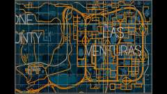 Mapa con los sectores de estilo de carreras para GTA San Andreas