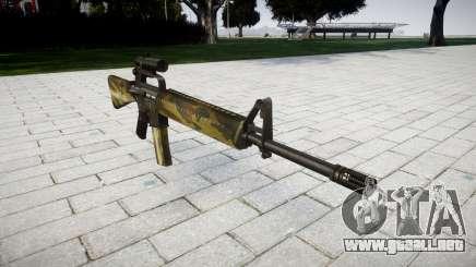 El rifle M16A2 [óptica] flora para GTA 4