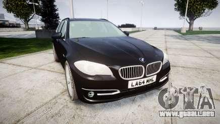BMW 525d F11 2014 Facelift Civilian para GTA 4