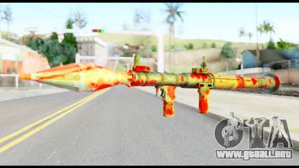 Rocket Launcher with Blood para GTA San Andreas