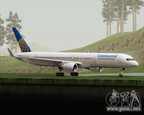 Boeing 757-200 Continental Airlines para GTA San Andreas left