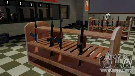 Modelos 3D de armas en Ammu-nation para GTA San Andreas segunda pantalla
