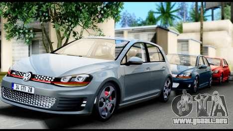 Volkswagen Golf GTI 2015 para vista lateral GTA San Andreas