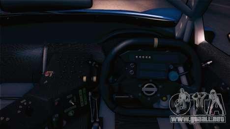 Nissan Skyline GTR-34 2003 para GTA San Andreas vista hacia atrás