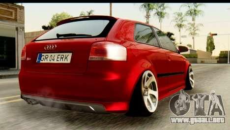 Audi S3 2007 Camber Edit para GTA San Andreas left