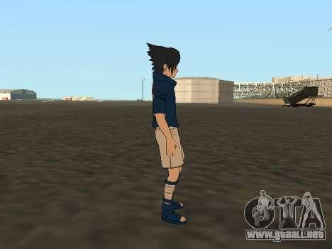 Sasuke Uchiha para GTA San Andreas sucesivamente de pantalla