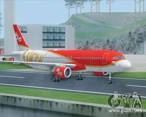 Airbus A320-200 Indonesia AirAsia WOW Livery para la visión correcta GTA San Andreas