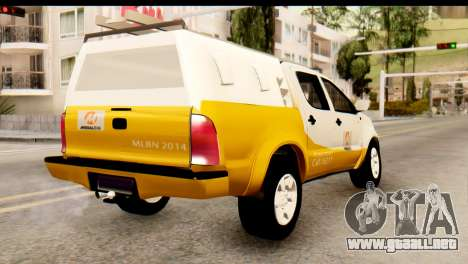 Toyota Hilux Meraclo Utility 2010 para GTA San Andreas left