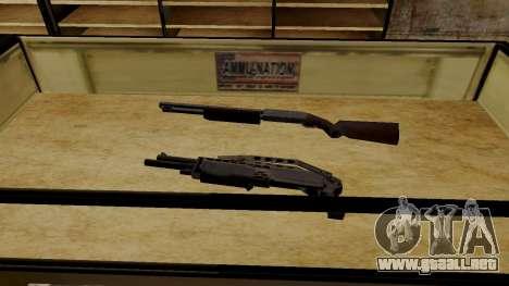 Modelos 3D de armas en Ammu-nation para GTA San Andreas sexta pantalla