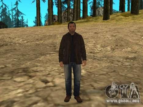 Michael de GTA 5 con un nuevo traje para GTA San Andreas segunda pantalla