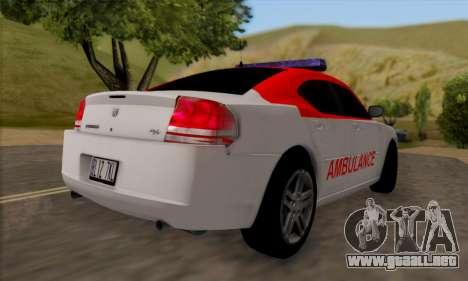 Dodgle Charger Ambulance para la visión correcta GTA San Andreas