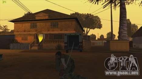 Katana from Killingfloor para GTA San Andreas tercera pantalla
