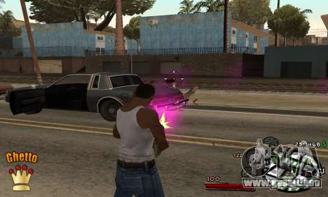 C-HUD Ghetto King para GTA San Andreas segunda pantalla