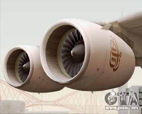 Airbus A380-800 Emirates (A6-EDJ) para la vista superior GTA San Andreas