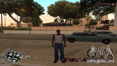 С-HUD Terror para GTA San Andreas segunda pantalla
