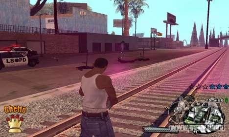 C-HUD Ghetto King para GTA San Andreas tercera pantalla