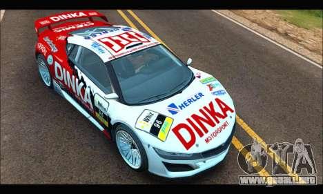Dinka Jester Racecar (GTA V) (SA Mobile) para la visión correcta GTA San Andreas