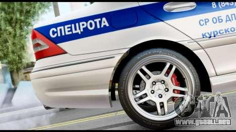 Mercedes-Benz C32 AMG ДПС para la visión correcta GTA San Andreas