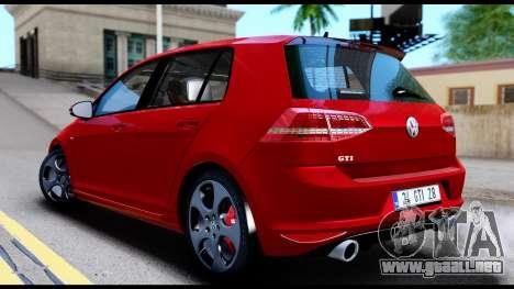 Volkswagen Golf GTI 2015 para GTA San Andreas vista posterior izquierda
