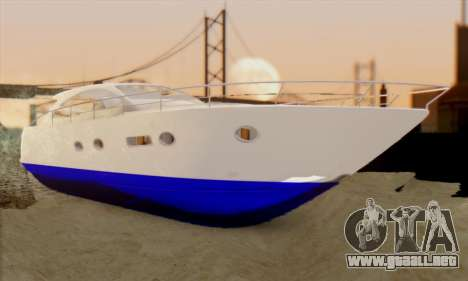 Speed Yacht para GTA San Andreas
