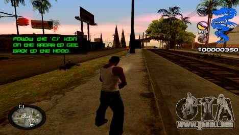 C-HUD Dragon para GTA San Andreas segunda pantalla