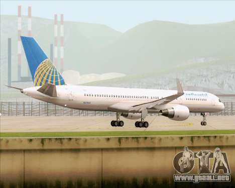 Boeing 757-200 Continental Airlines para vista lateral GTA San Andreas